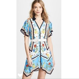 Alice + Olivia NWOT Conner Handkerchief Shirtdress